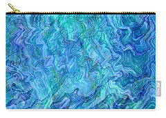 Caribbean Blue Abstract Carry-all Pouch by Carol Groenen
