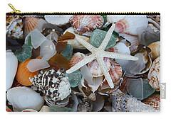 Caribbean Shells Carry-all Pouch by The Art of Alice Terrill