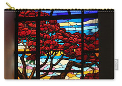 Caribbean Stained Glass  Carry-all Pouch by The Art of Alice Terrill