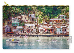 Carry-all Pouch featuring the photograph Caribbean Village by Hanny Heim