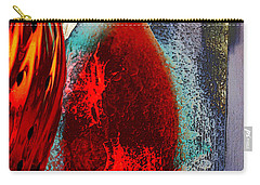 Carry-all Pouch featuring the photograph Carmellas Red Vase 1 by Kate Word