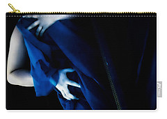 Carnal Blue Carry-all Pouch by Jessica Shelton