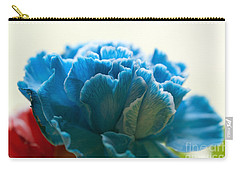 Carnation In Blue Carry-all Pouch
