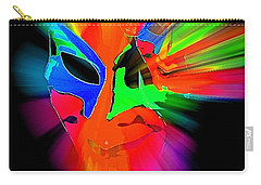 Carnival Mask In Abstract Carry-all Pouch
