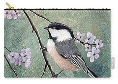 Carry-all Pouch featuring the painting Carolina Chickadee by Fran Brooks
