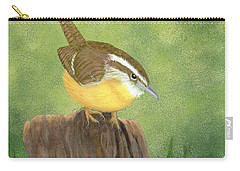 Carry-all Pouch featuring the painting Carolina Wren by Fran Brooks