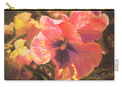 Caroline's Pansies Carry-all Pouch