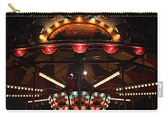 Carry-all Pouch featuring the photograph Carousel 3 by Mary Bedy