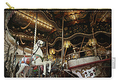 Carry-all Pouch featuring the photograph Carousel by Barbara Orenya