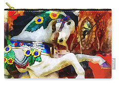 Carousel Horse Closeup Carry-all Pouch by Susan Savad
