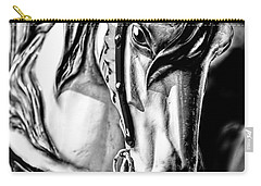 Carousel Horse Two - Bw Carry-all Pouch