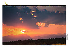Carry-all Pouch featuring the photograph Carpathian Sunset by Mihai Andritoiu