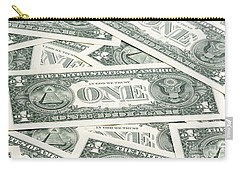 Carry-all Pouch featuring the photograph Carpet Of One Dollar Bills by Lee Avison