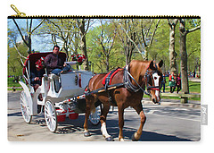 Carry-all Pouch featuring the photograph Carriage Ride In Central Park by Eleanor Abramson