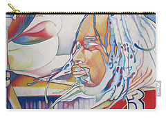 Carter Beauford Colorful Full Band Series Carry-all Pouch by Joshua Morton