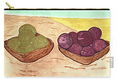 Carry-all Pouch featuring the painting Castaway Fruit by Tracey Williams