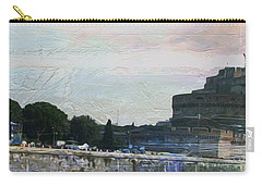 Carry-all Pouch featuring the painting Castel Sant'angelo     by Brian Reaves