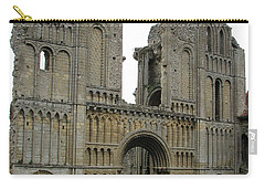 Carry-all Pouch featuring the photograph Castle Acre Abbey by Stephanie Grant