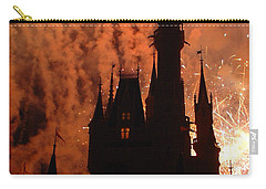 Carry-all Pouch featuring the photograph Castle Fire Show by David Nicholls