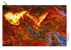 Carry-all Pouch featuring the digital art Cat And Caduceus In The Matmos by Richard Thomas