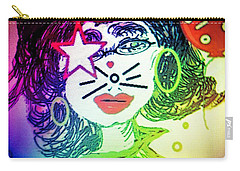 Cat Birthday Carry-all Pouch by Ann Calvo