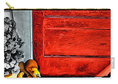Cat By The Red Door Carry-all Pouch