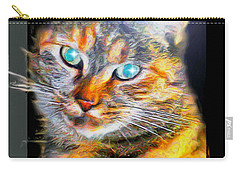 Carry-all Pouch featuring the digital art Cat by Daniel Janda