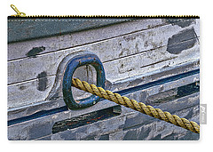 Carry-all Pouch featuring the photograph Cat Hole And Hawser by Marty Saccone