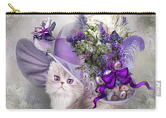 Cat In Easter Lilac Hat Carry-all Pouch