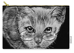 Cat In Glasses  Carry-all Pouch by Jean Cormier