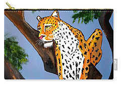 Cat On A Hot Wood Tree Carry-all Pouch