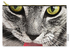 Carry-all Pouch featuring the photograph Cat by Paul Fearn