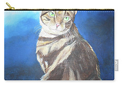 Carry-all Pouch featuring the painting Cat Profile by Thomas J Herring