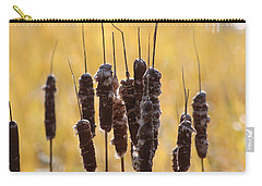 Cat Tails In November Carry-all Pouch by Bruce Patrick Smith