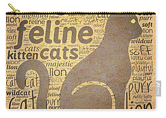 Cat Typography Carry-all Pouch