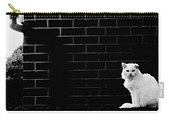 Cat With The Floppy Ear In Black And White Carry-all Pouch