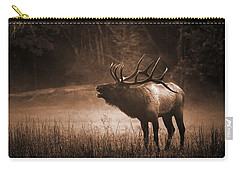 Cataloochee Bull Elk In Sepia Carry-all Pouch