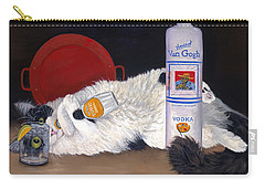 Carry-all Pouch featuring the painting Catatonic by Karen Zuk Rosenblatt