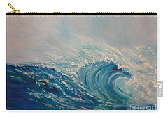 Carry-all Pouch featuring the painting Wave 111 by Jenny Lee