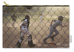Catcher In Action Carry-all Pouch by Chris Thomas