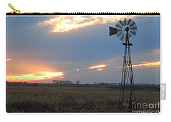 Catching The Wind In South Dakota Carry-all Pouch by Mary Carol Story