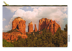 Cathedral Rock Sunset Carry-all Pouch by Bob and Nadine Johnston