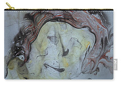 Carry-all Pouch featuring the painting Catman by Mike Breau