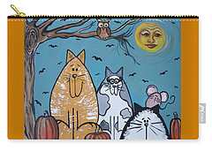 Cats And Harvest Moon Carry-all Pouch