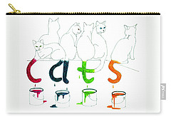 Cats With Paint Cans Carry-all Pouch