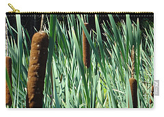 Carry-all Pouch featuring the photograph Cattails A Plenty by Michael Porchik