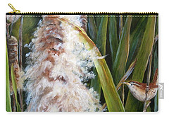 Cattails And Wrens Carry-all Pouch