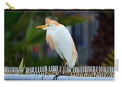 Carry-all Pouch featuring the photograph Cattle Egret Breeding Plumage by Debra Martz