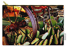 Carry-all Pouch featuring the photograph Caught In A Cactus Patch-sold by Antonia Citrino