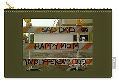 Carry-all Pouch featuring the photograph New Orleans Caution Graffiti  by Michael Hoard